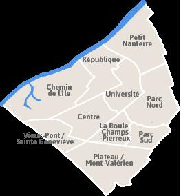 Chemin de l 39 le ville de nanterre - Quartier chemin de l ile nanterre ...